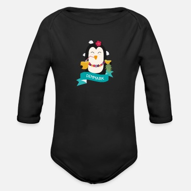 Coast Penguin Hawaii from DENMARK Gift - Organic Long-Sleeved Baby Bodysuit