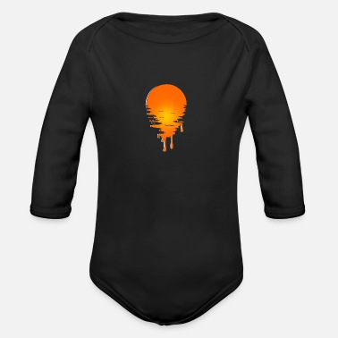 Melting gift bleeding shirt sun - Organic Long-Sleeved Baby Bodysuit