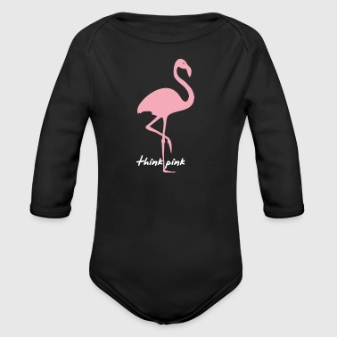 think pink flamingo - Baby Bio-Langarm-Body
