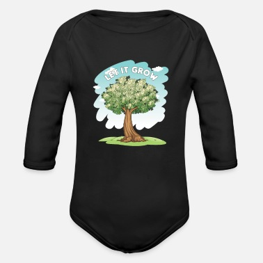 Richesse Let It Grow Money Tree Stocks Investor Gift - Body Bébé bio manches longues