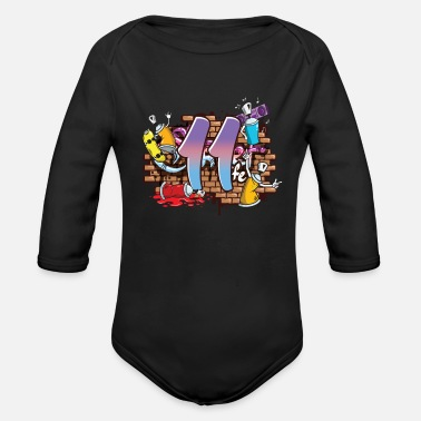 Occasion 11 Graffiti Spray Paintings Painters - Organic Long-Sleeved Baby Bodysuit