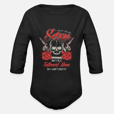 Pigment Tattoo Mom Artist Tattooing Pigment Pattern - Organic Long-Sleeved Baby Bodysuit