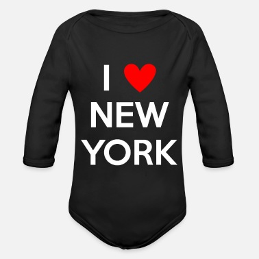 Ny Ich liebe New York I love new york NY - Baby Bio Langarmbody
