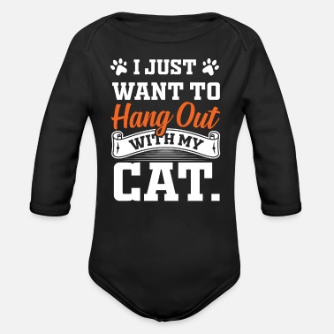 Recreational Cat recreation - Organic Long-Sleeved Baby Bodysuit