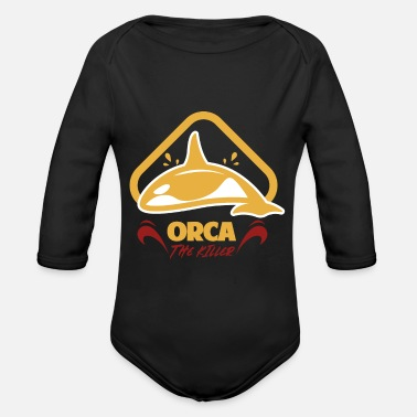 Whaling whale whale - Organic Long-Sleeved Baby Bodysuit