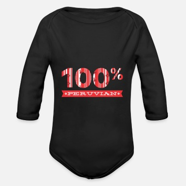 South America Peru Lima South America - Organic Long-Sleeved Baby Bodysuit