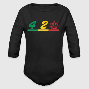 420 smokers love - Organic Longsleeve Baby Bodysuit