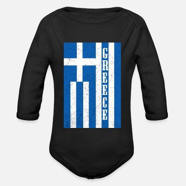 Flag Greece flag flag - Organic Long-Sleeved Baby Bodysuit