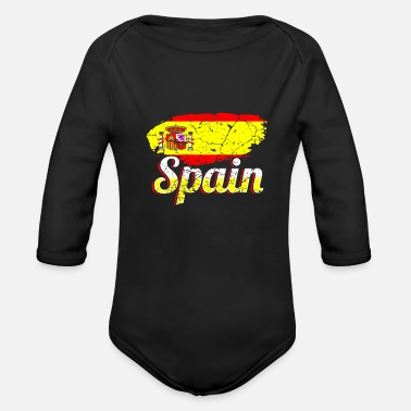Espagnol Espagne Espagnol Espagnol - Body Bébé bio manches longues