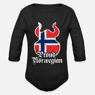 Norwegian Norwegian Norwegian Norway Viking - Organic Long-Sleeved Baby Bodysuit