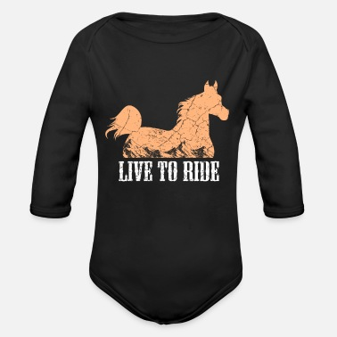 Equitation Horses riding equitation - Organic Long-Sleeved Baby Bodysuit