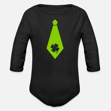 Day St Patricks day tie - Irish - Shamrock beer - Organic Long-Sleeved Baby Bodysuit