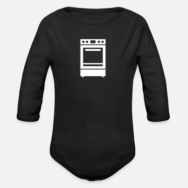 Stove Stove - Organic Long-Sleeved Baby Bodysuit