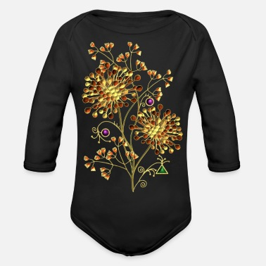 Children flowers - Organic Long-Sleeved Baby Bodysuit