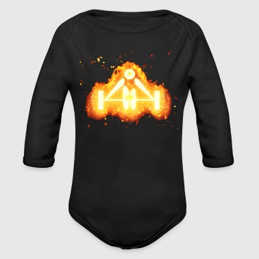 Weight Lifting Weight lifting weight burning - Organic Longsleeve Baby Bodysuit