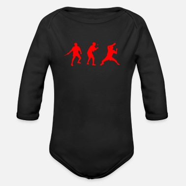 Table Tennis Net table tennis - Organic Long-Sleeved Baby Bodysuit