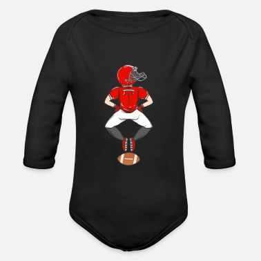 American Football Rugby American Football Sport USA Gridiron Footbal - Organic Long-Sleeved Baby Bodysuit