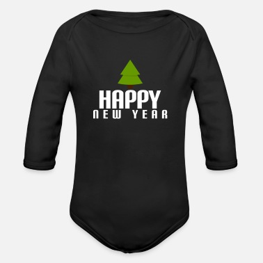 Speiky happy New Year - Organic Long-Sleeved Baby Bodysuit