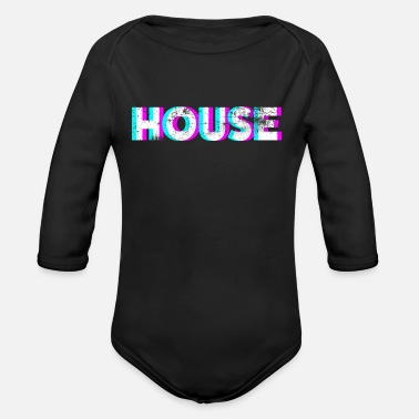 House House - Organic Long-Sleeved Baby Bodysuit