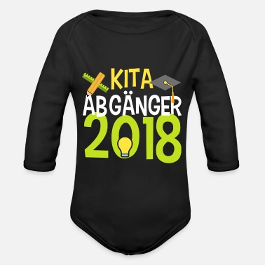 Elementary School KITA ABGÄNGER school child enrollment elementary school - Organic Long-Sleeved Baby Bodysuit