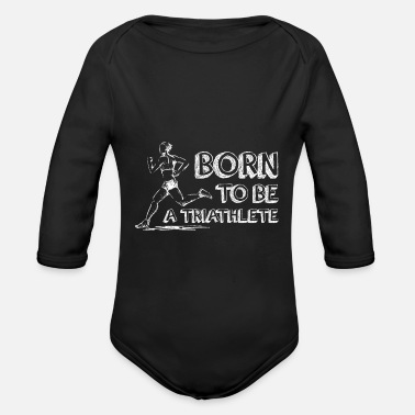 born to be a triathlete - Baby Bio Langarmbody