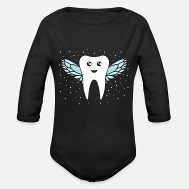 Tooth Tooth fairy tooth - Organic Long-Sleeved Baby Bodysuit