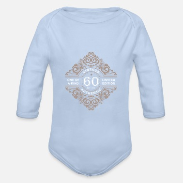 60th 60th birthday - Organic Long-Sleeved Baby Bodysuit