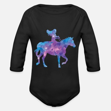 Ride A Horse horse riding - Organic Long-Sleeved Baby Bodysuit