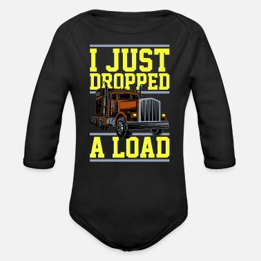 Cargo Trucker truck driver long-distance transport - Organic Long-Sleeved Baby Bodysuit