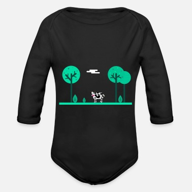 Pasture summer pasture - Organic Long-Sleeved Baby Bodysuit