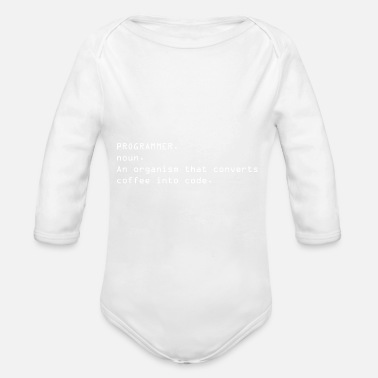 Dictionary Programmer Dictionary - Organic Long-Sleeved Baby Bodysuit