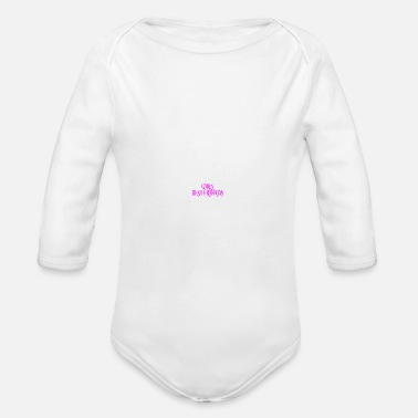 Girls best friends cats dogs pets BFF - Organic Long-Sleeved Baby Bodysuit