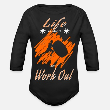 Work Out Work Out - Organic Long-Sleeved Baby Bodysuit