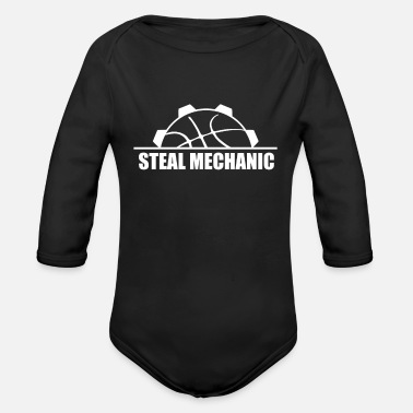 Steal Basketball Steal Steals Turnover Baller Gift - Organic Long-Sleeved Baby Bodysuit