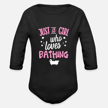 Bath Bathing tub bath - Organic Long-Sleeved Baby Bodysuit