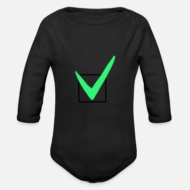Check Mark Check mark - sign - Organic Long-Sleeved Baby Bodysuit