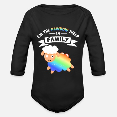 Sex Pride equality gay rainbow equal men - Organic Long-Sleeved Baby Bodysuit