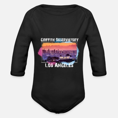 Male Friend Or Female Friend Griffith Observatory Los Angeles t-shirt design - Organic Long-Sleeved Baby Bodysuit