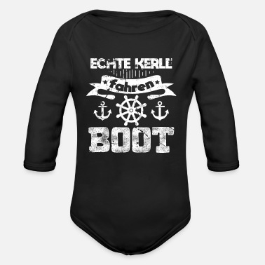 Boater Boating boater - Organic Long-Sleeved Baby Bodysuit