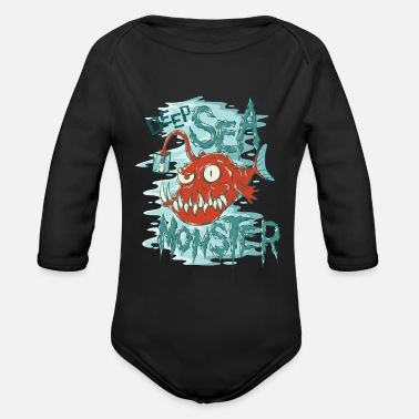 Contest Deep sea monster frogfish - Organic Long-Sleeved Baby Bodysuit