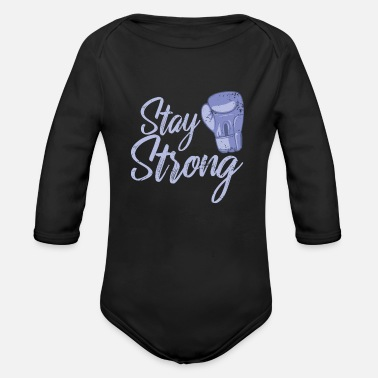 Winner Stay Strong boxes - Organic Long-Sleeved Baby Bodysuit