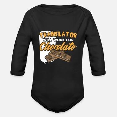 Translation Translator Translate Language Gift Organic Longsleeve Baby Bodysuit