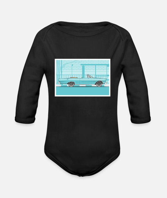 Classic Car Baby Bodysuits - Classic car - Organic Long-Sleeved Baby Bodysuit black