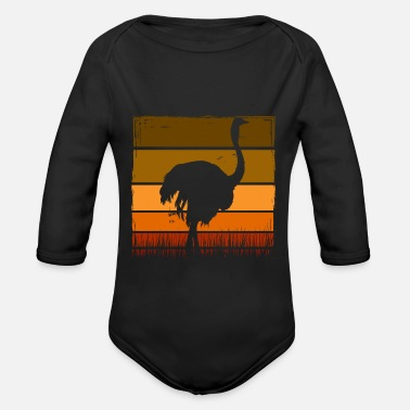 Ostrich ostrich - Organic Long-Sleeved Baby Bodysuit