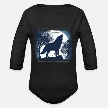 Pack-animals Wolf pack of animals - Organic Long-Sleeved Baby Bodysuit