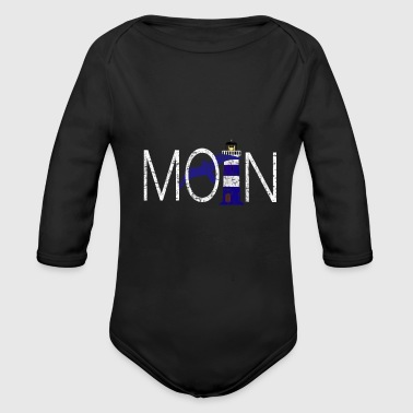 Moin North Sea Baltic Sea Lighthouse Seagull North Sea - Organic Longsleeve Baby Bodysuit