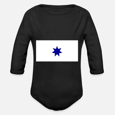 Alas ALA flag - Organic Long-Sleeved Baby Bodysuit