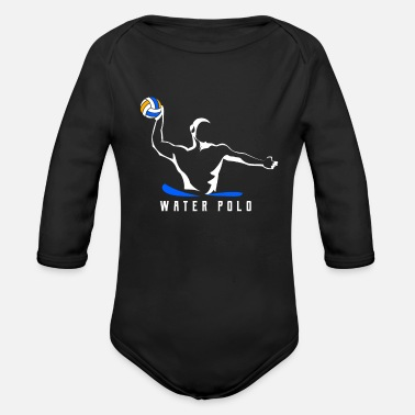 Water water polo - Organic Long-Sleeved Baby Bodysuit