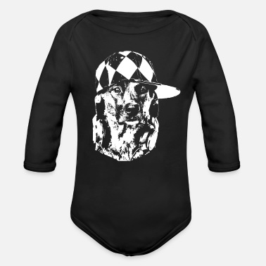 Dachshund Dog pooch dog gift gift idea - Organic Long-Sleeved Baby Bodysuit