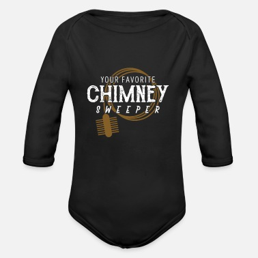 Lucky Charm chimney sweeper - Organic Long-Sleeved Baby Bodysuit